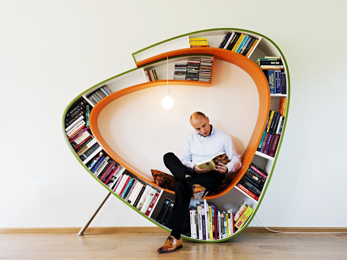 new styles be6b5 0eade awesome-modern-artistic-bookworm-bookshelf-designs-circle ...