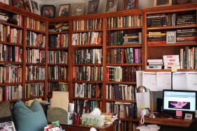 marvelous-building-a-home-library-with-brown-wooden-wall-bookshelf-mounted-on-the-wall-and-brown-wooden-computer-desk-above-flooring-also-brown-wooden-desk-near-bookshelf-as-well-as-build-your-own-lib